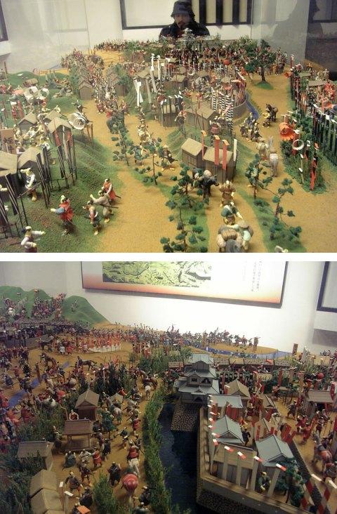 O gigante assusta os pobre camponeses indefesos de Sekigahara